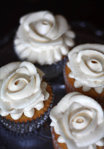 Caramel Cupcakes Recipe | ZoëBakes | Photo by Zoë François
