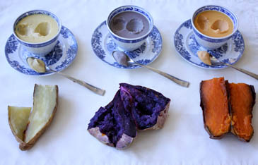 Sweet potato vs yam pots de créme