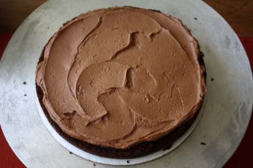 Chocolate cake topped with chocolate buttercream | ZoëBakes | Photo by Zoë François