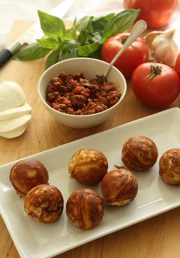 Pesto and Mozzarella Aebleskivers Recipe | ZoëBakes | Photo by Zoë François