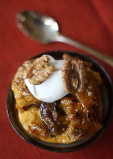Prune pudding with caramelized pumpkin | ZoëBakes | Photo by Zoë François