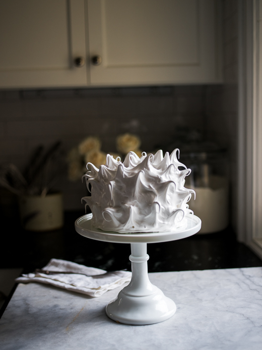 Coconut Cream Cake with Toasted Meringue Frosting