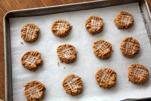 Ultra Peanut Butter Cookies (gluten free) made with peanut flour | photo by Zoë François
