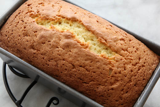 Baked pound cake in loaf pan | ZoëBakes | Photo by Zoë François