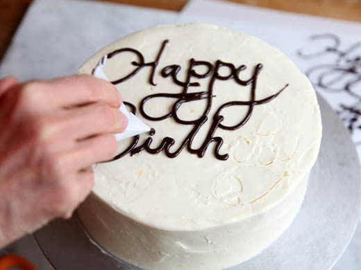 Magnificent How To Write On A Cake How To Fold A Pastry Bag Zoebakes Eat Funny Birthday Cards Online Alyptdamsfinfo