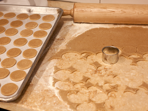 Cutting homemade graham crackers | ZoëBakes | Photo by Zoë François