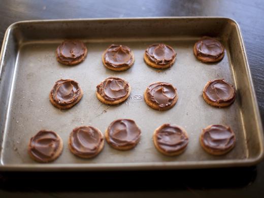 Chocolate ganache on graham crackers | ZoëBakes | Photo by Zoë François