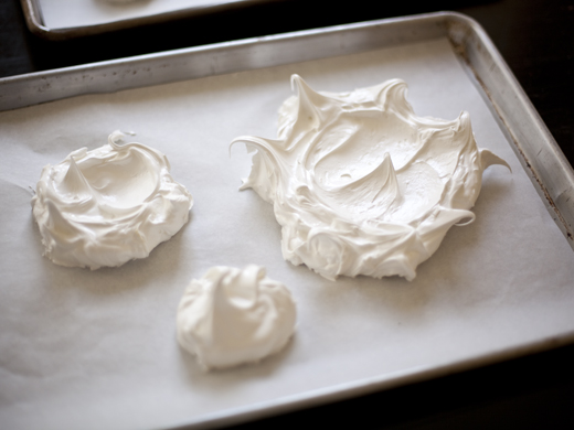 Meringue spread on baking sheet | ZoëBakes | Photo by Zoë François