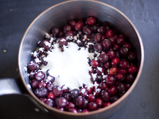 Combining cranberries and sugar   ZoëBakes   Photo by Zoë François