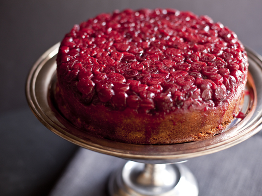 Cranberry upside down cake with raspberries | ZoëBakes | Photo by Zoë François