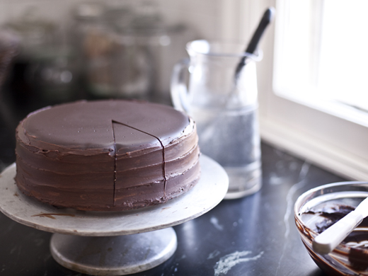 Peanut butter and jelly cheesecake with chocolate ganache | ZoëBakes | Photo by Zoë François