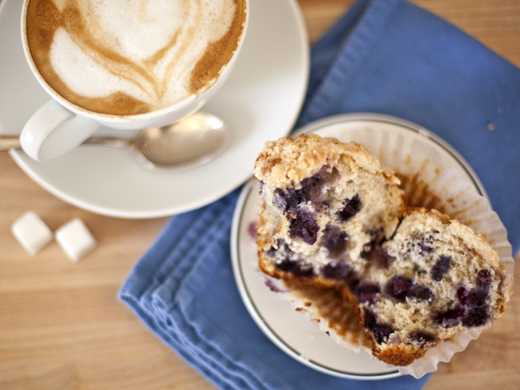 Blueberry Muffin with Coffee | ZoëBakes | Photo by Zoë François
