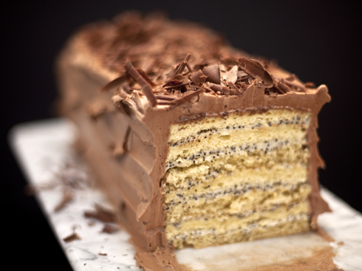 7 layer cake for Passover | ZoëBakes | Photo by Zoë François