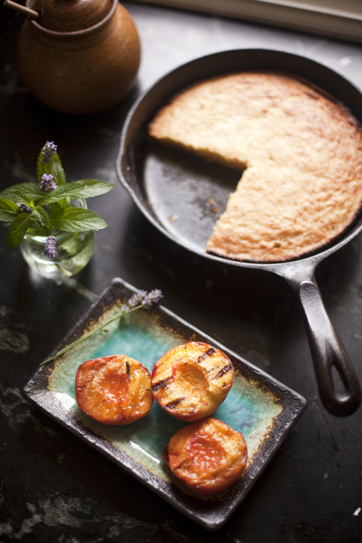 Grilled peaches and cornbread  | ZoëBakes | Photo by Zoë François