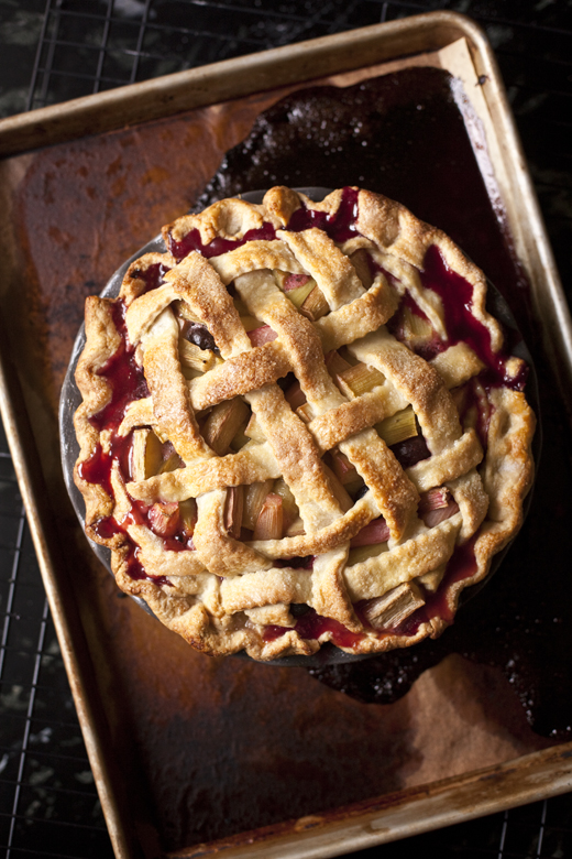 Rhubarb Pie with Lattice Crust Recipe | ZoëBakes | Photo by Zoë François