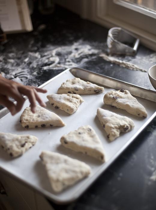 Scones on a Baking Sheet | ZoëBakes | Photo by Zoë François