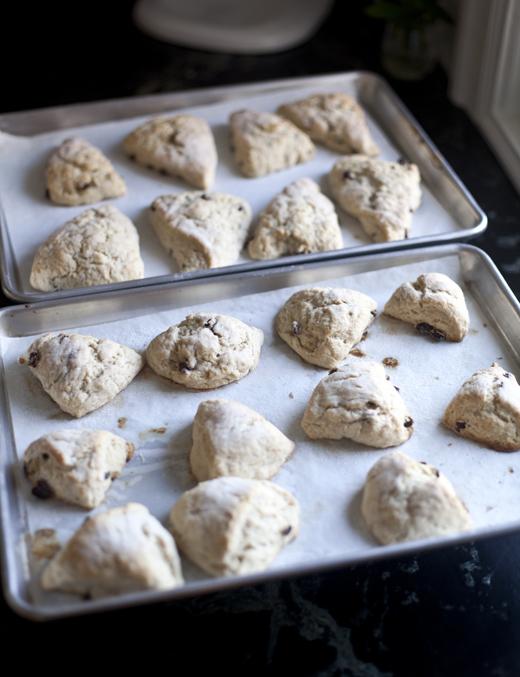 Baked Lemon-Raisin Scones | ZoëBakes | Photo by Zoë François
