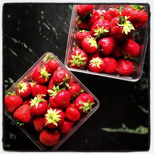 Fresh, Minnesota strawberries | ZoëBakes | Photo by Zoë François