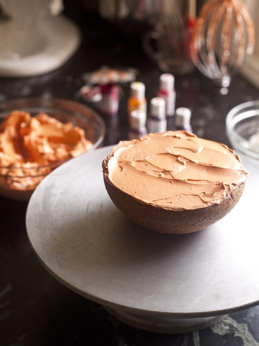 Assembling Pumpkin Cake | ZoëBakes | Photo by Zoë François
