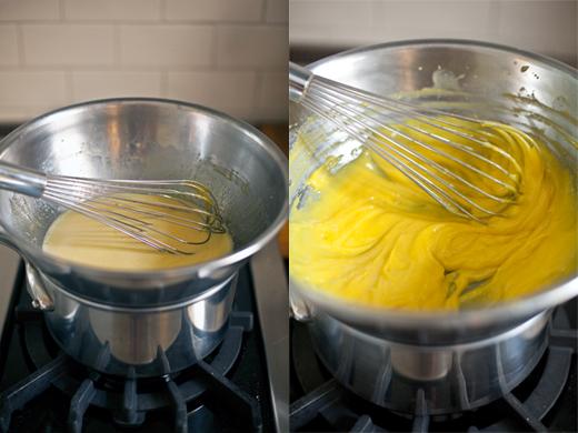 Egg Mixture for Tiramisu Mascarpone Filling Thickening | photo by Zoë François