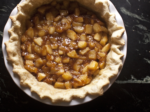 Caramelized Apples in Baked Pie Crust | ZoeBakes | Photo by Zoë François