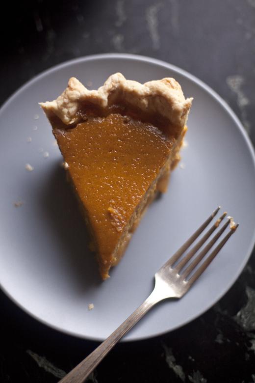 Caramel Apple Pumpkin Pie slice | ZoeBakes | Photo by Zoë François