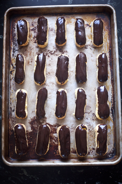 Eclairs Dipped in Ganache | Photo by Zoë François