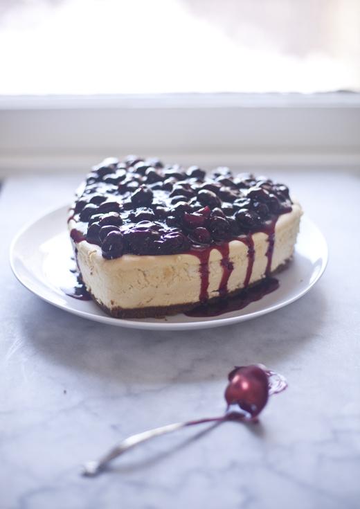 Heart-Shaped Cherry Cheesecake | ZoëBakes | Photo by Zoë François
