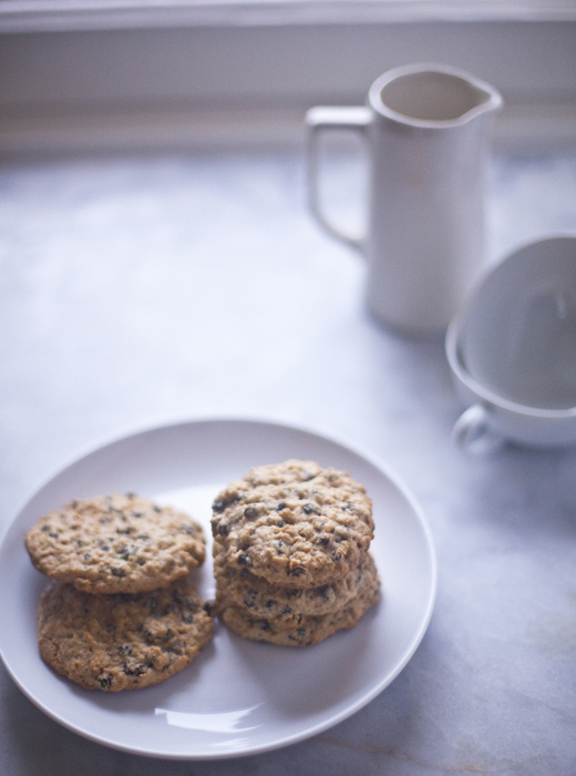 Plate of gluten-free oatmeal cookies | ZoëBakes | Photo by Zoë François