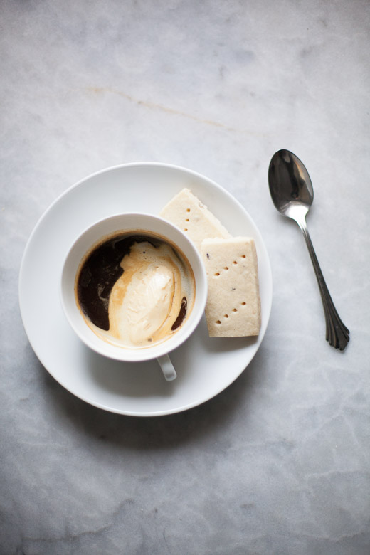 Affogato with Lemon Lavender Shortbread | ZoeBakes (2 of 2)