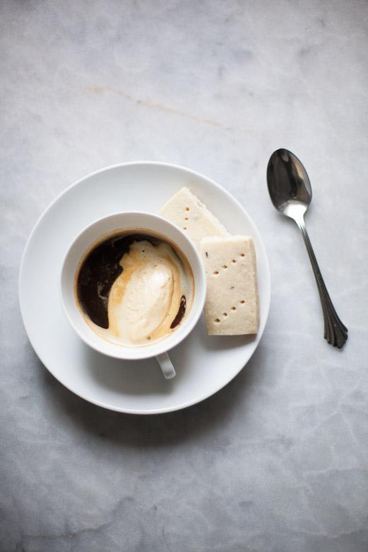 Affogato with Lemon Lavender Shortbread | ZoeBakes (2 of 2)