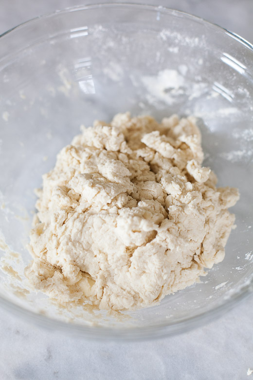 How to Make Flaky Biscuits | Adding buttermilk into the dry ingredients