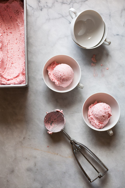 Strawberry Sour Cream Ice Cream | ZoeBakes | Photo by Zoë François