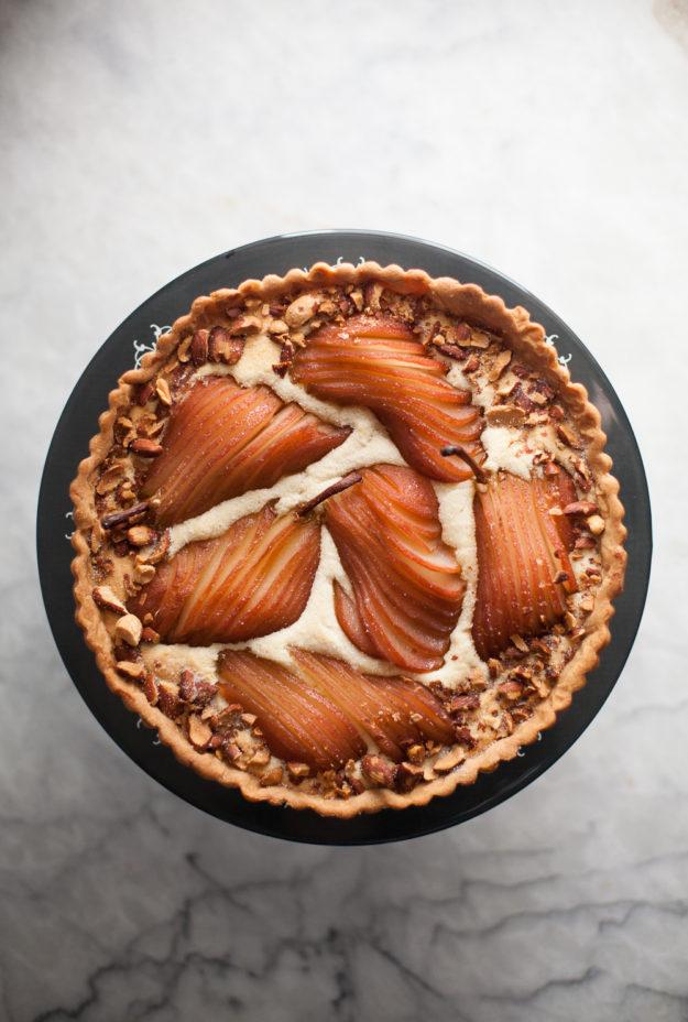 poached pear almond tart | photo by Zoë François