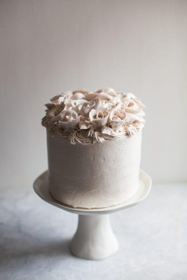 Cajeta Cake with cinnamon buttercream