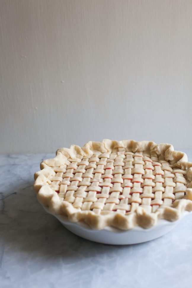 Whole Strawberry Rhubarb Pie | photo by Zoë François