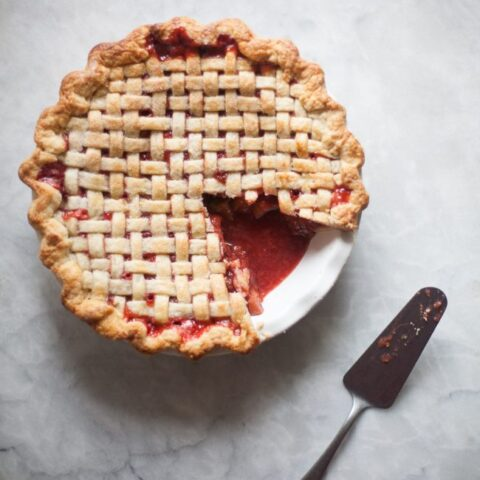 Strawberry Rhubarb Pie | ZoeBakes by Zoe Francois