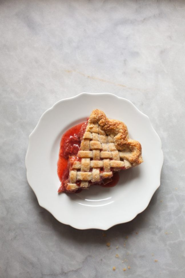 Slice of Strawberry Rhubarb Pie | photo by Zoë François