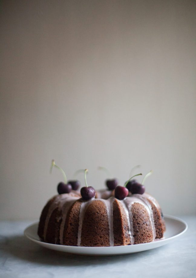 Cherry Olive Oil Cake | photo by Zoë François