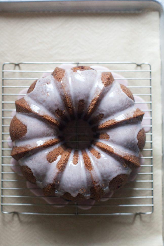 Glazed Cherry Olive Oil Cake | photo by Zoë François