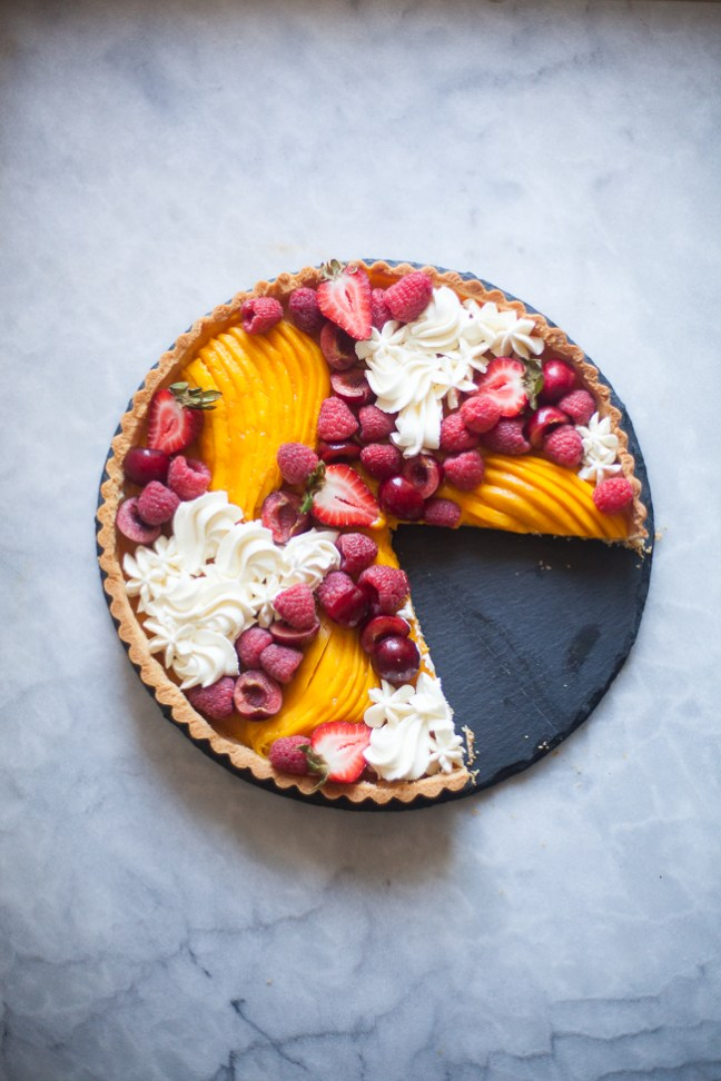 Mango Curd Tart | photo by Zoë François