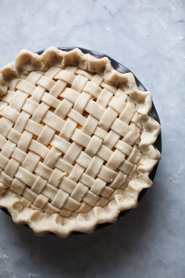 Apricot-Peach Pie with Lattice Pie Crust