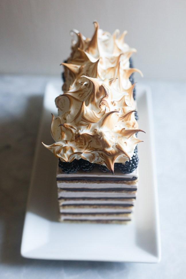 Blackberry Opera Torte (Diva Cake) | ZoeBakes photos by Zoë François