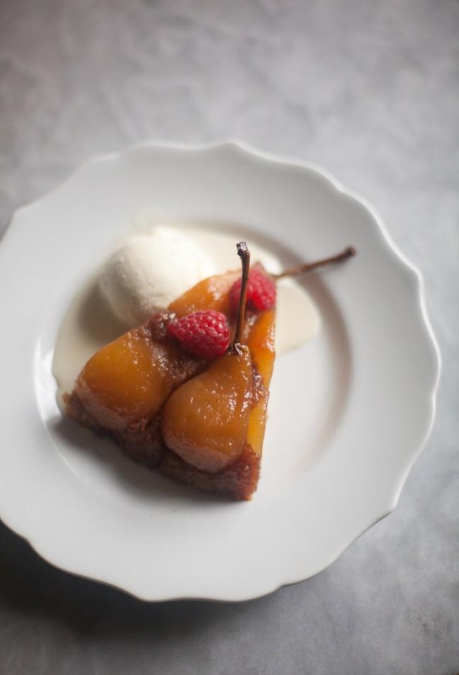 Pear Raspberry Upside-Down Cake | ZoeBakes photo by Zoë François