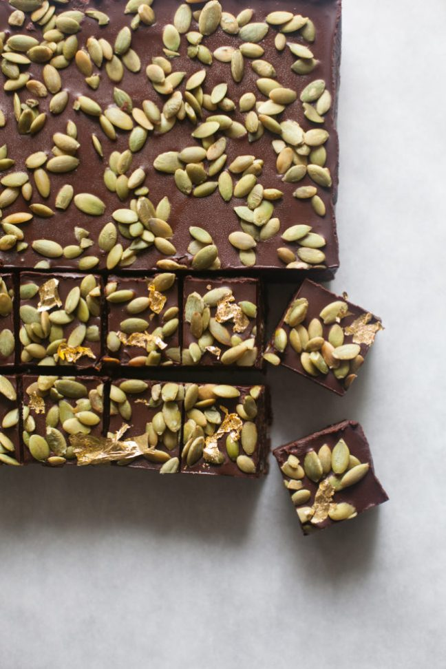 No-bake Chocolate Pepita Crunch Bars | Zoe Bakes photos by Zoë François