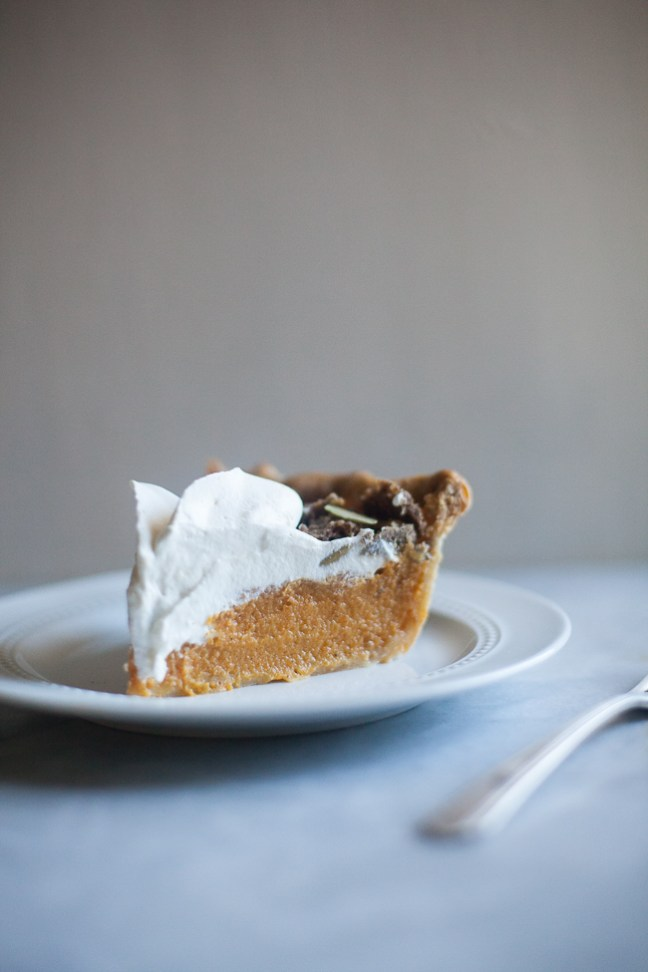 buttermilk pumpkin streusel pie | ZoeBakes photos by Zoë François
