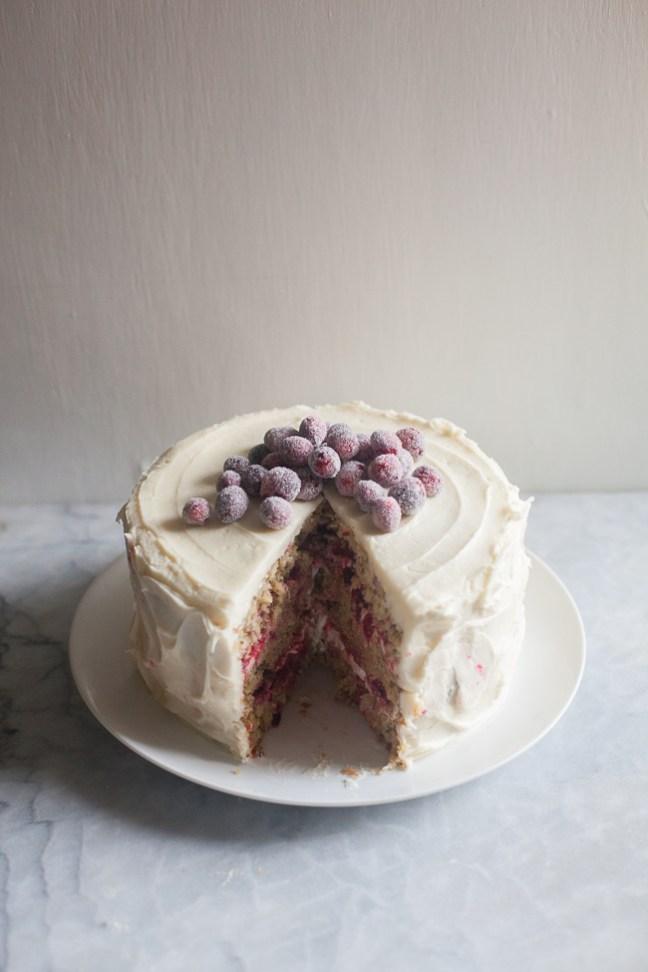 Triple-Layer Parsnip Cranberry Cake | ZoeBakes photo by Zoë François