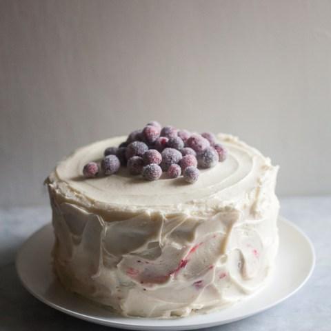 Triple-Layer Parsnip Cranberry Cake