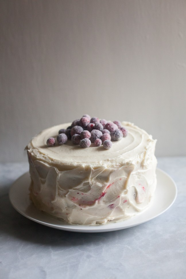 Triple-Layer Parsnip Cranberry Cake | ZoeBakes photo by Zoë François