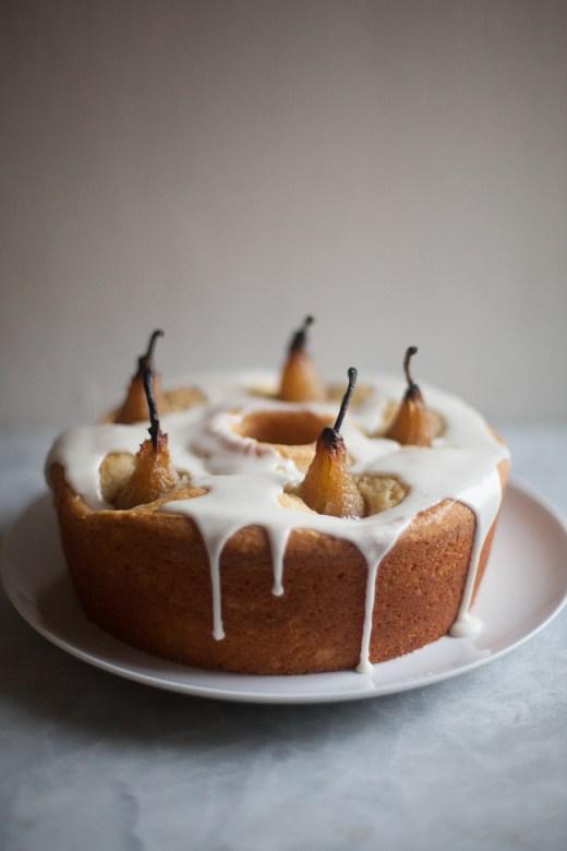 Cardamom Pear Cake | ZoeBakes